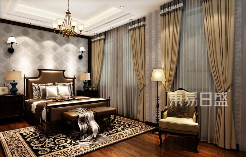 碧桂园翡翠郡美式风格次卧装修案例效果图