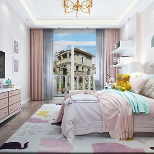 简欧风格 儿童房装修效果图 五房两厅