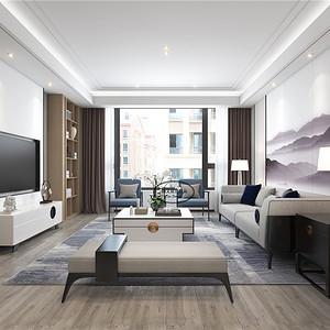 白金汉宫新中式140㎡装修效果图 白金汉宫新中式140㎡家装案例