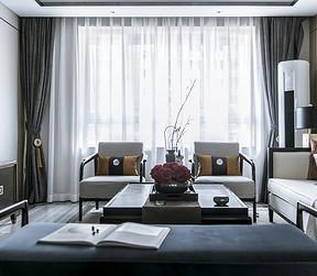 虎门御龙山现代简约客厅实景图