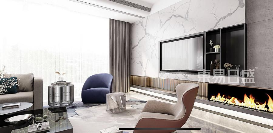 雅乐居300平米现代轻奢风格别墅客厅装修效果图