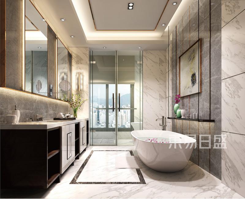 卫生间装修效果图——现代简约风格图片