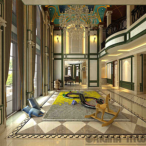 融创玫瑰园+600平米别墅装修效果图+法式风格