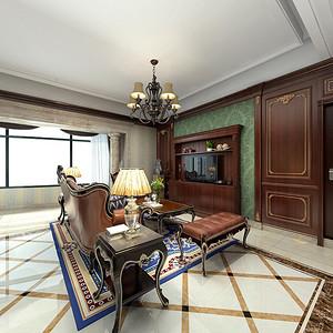 金都汉宫美式新古典客厅装修效果图