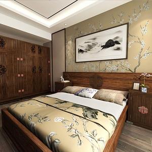 华西一村 新中式 卧室