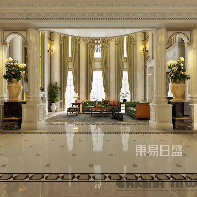 融创玫瑰园+法式装修风格+客厅