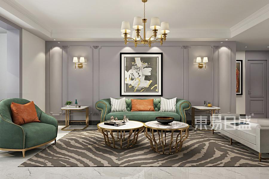 三居室-簡美-客廳沙發背景牆-效果圖