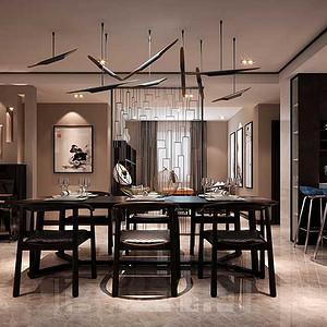 餐厅新中式风格搭配现代元素
