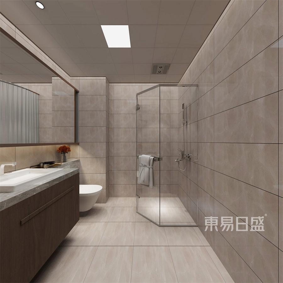 锦东如意城三居新中式卫生间装修效果图