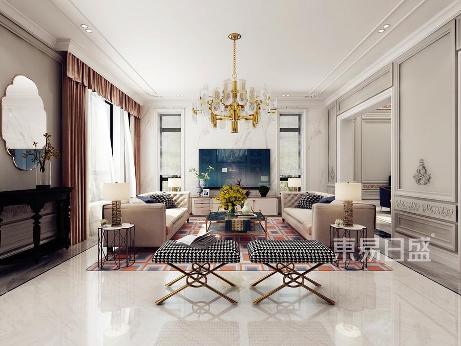 别墅-新古典-客厅效果图