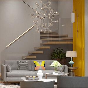 金域中央250平跃层北欧风格设计装修效果图