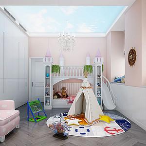 340㎡大平层现代中式风格儿童房