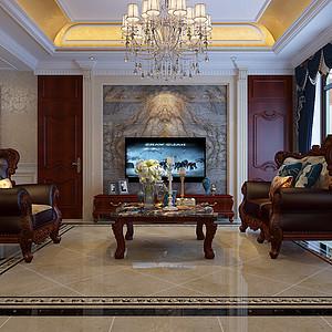 汇君城-三室两厅-欧式风格装修案例