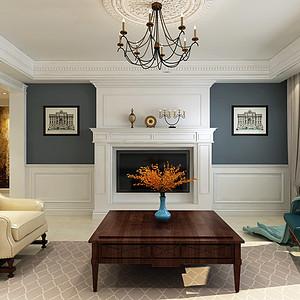 盈瑞家园-三室两厅-美式风格装修案例