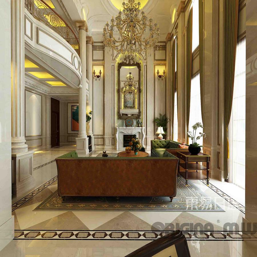 融创玫瑰园+法式风格+客厅装修效果图
