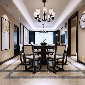 新中式风格 餐厅装修效果图