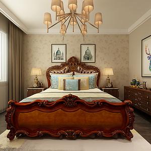 现代轻奢装修风格卧室效果图