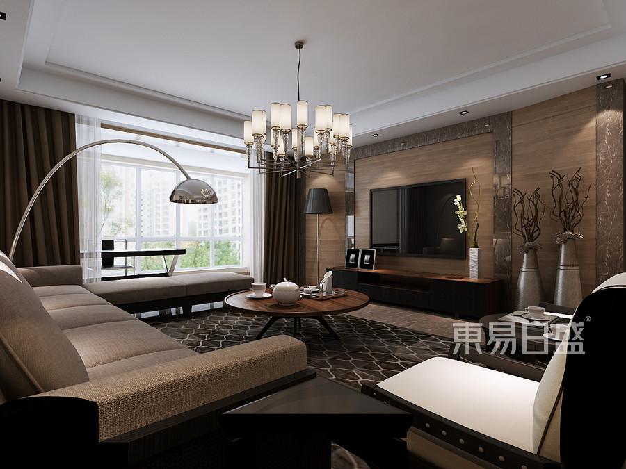 黄江碧桂园翡翠山现代简约客厅装修效果图