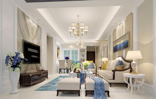 星河world银湖谷 简欧室内装修 99平方3房2厅2卫