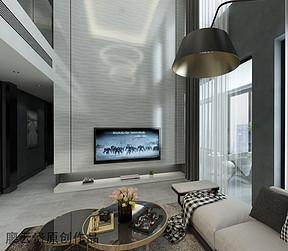 150㎡现代低调奢华风格客厅效果图