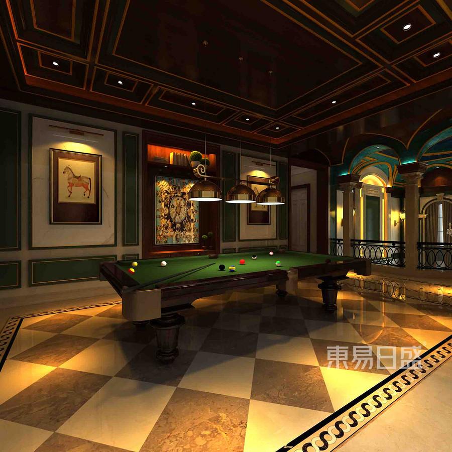 融创玫瑰园+法式装修风格+台球室