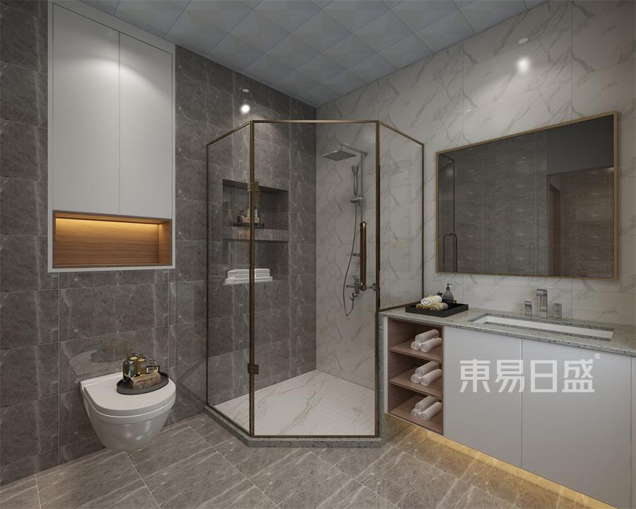 洪洞·陆合御景城四居室卫生间美式装修效果图