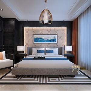 新中式风格 卧室装修效果图