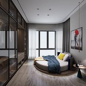 王府井现代简约卧室装修效果图