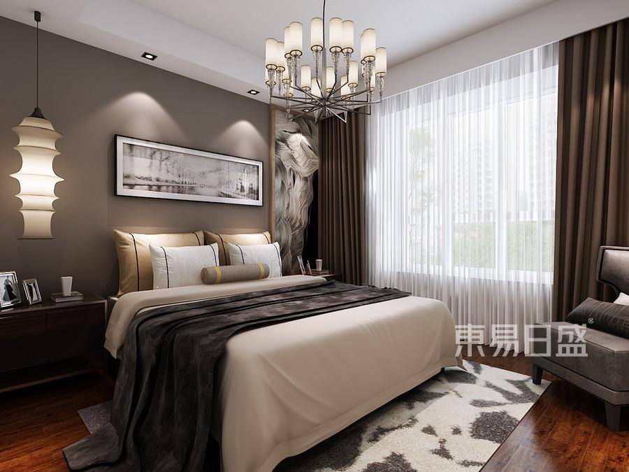 黄江碧桂园翡翠山现代简约卧室装修效果图