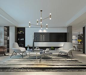 现代简约北欧风格客厅