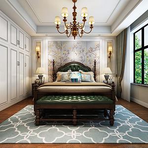 卧室装修利用线条突出美式的质感