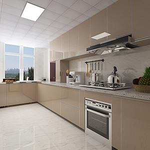 现代简约风格-厨房-装修效果图