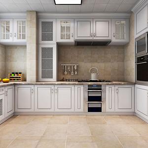 厨房空间功能划分明确,造型古典优雅