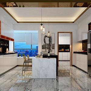 260㎡大平层现代混搭风格厨房效果图