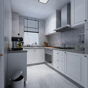 简欧风格-厨房-装修效果图
