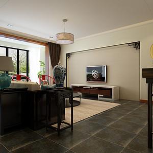 新中式-客厅-装修效果图