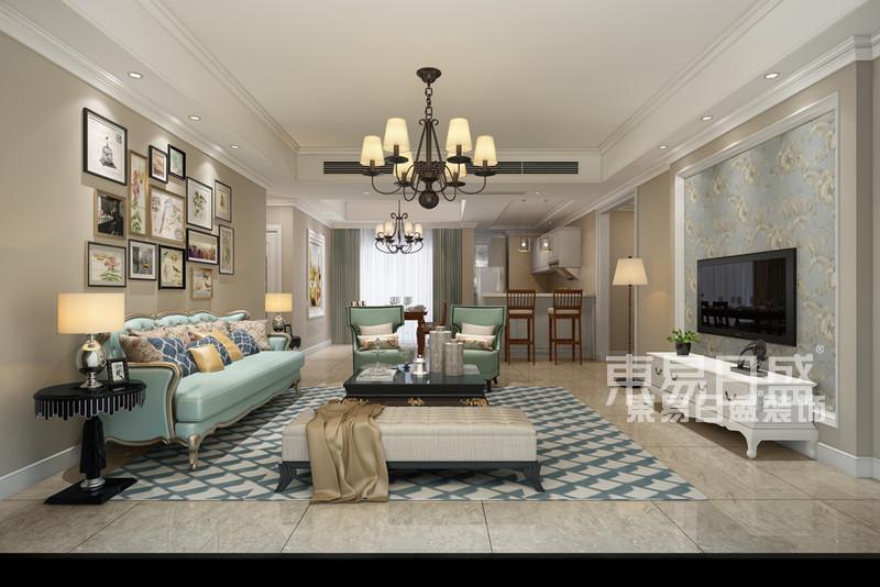 香山美墅一期4栋A户型分析  200平米美式风格装修效果图片