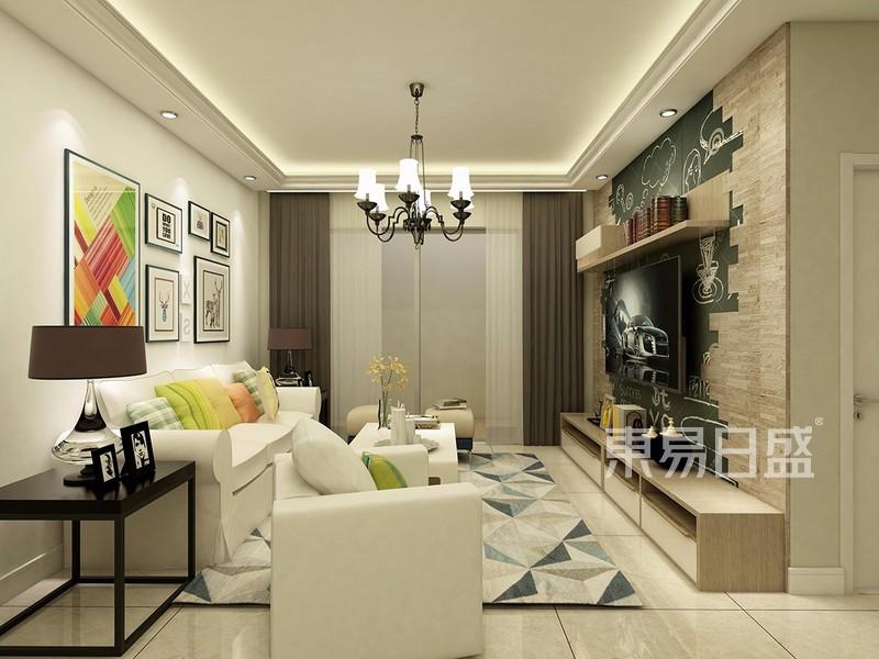 现代简约风格装修效果图——客厅