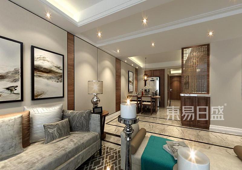 天宇澜山158㎡四居室新中式风格户型解析