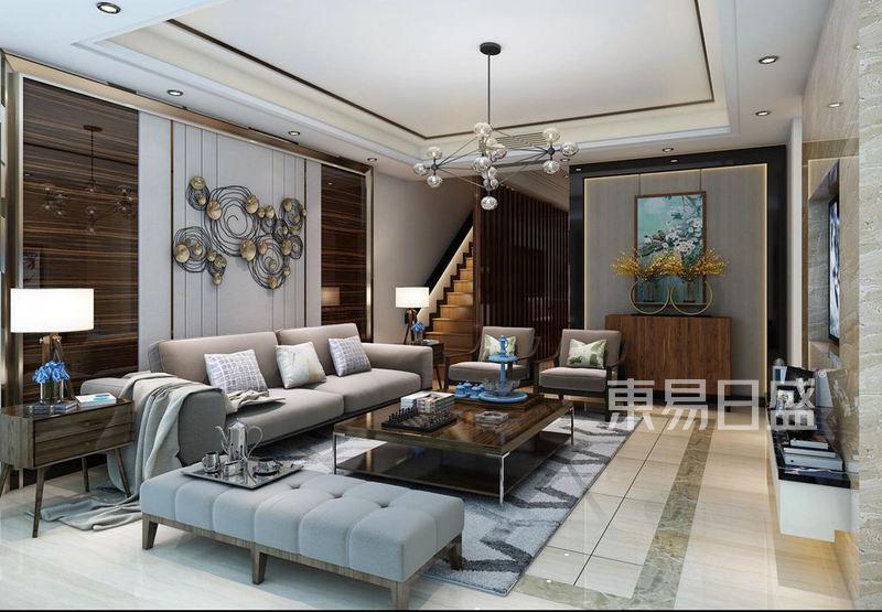 陽光100-現代奢華新中式-400平米-聯排別墅裝修樣板間