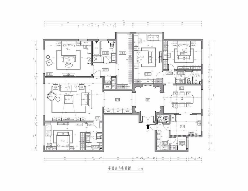 西山壹号院-200平米简欧装修风格-户型解析