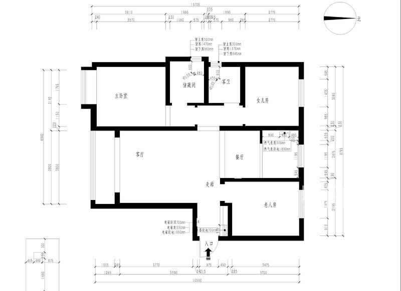 如园143平三室二厅户型解析