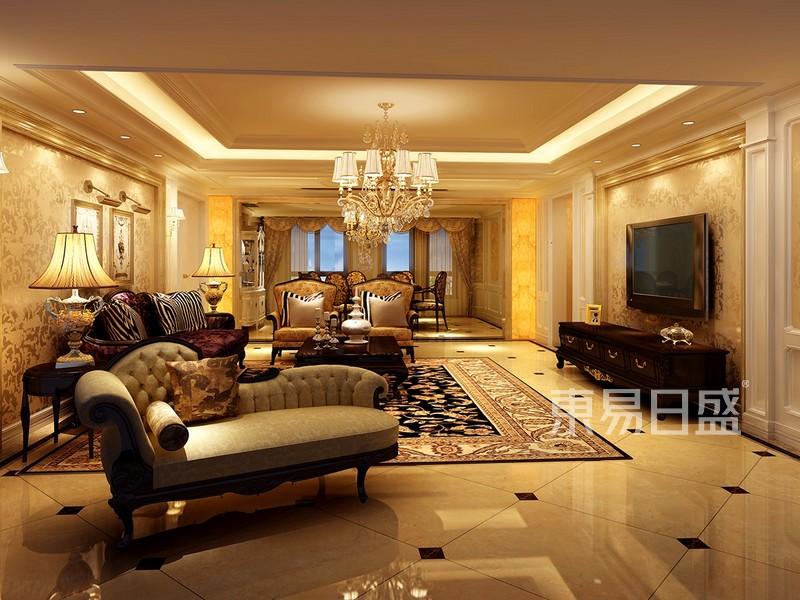 欧式风格装修效果图—客厅
