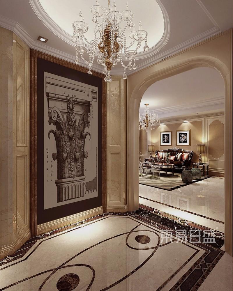 新古典风格装修效果图-门厅