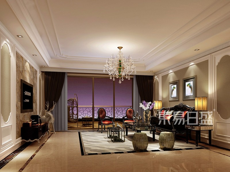 新古典风格装修效果图-客厅