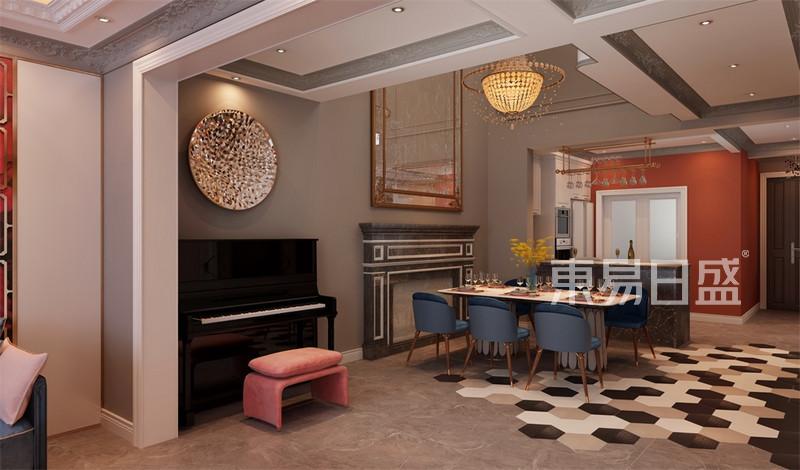 简约法式风格餐厅户型解析