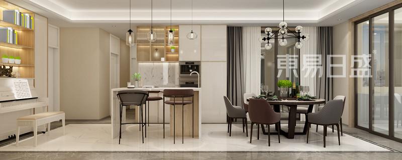现代风格三室二厅餐厅装修