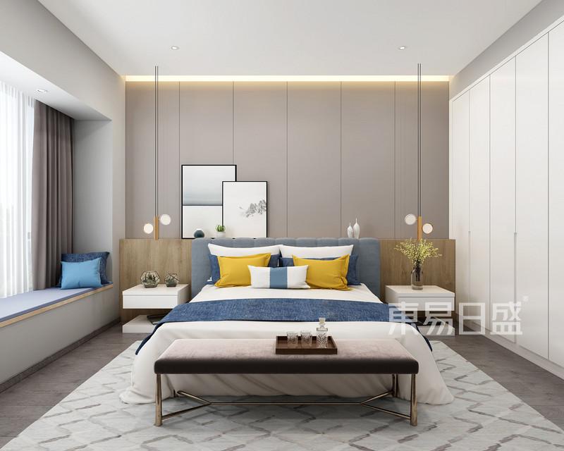 现代风格三室二厅主卧装修
