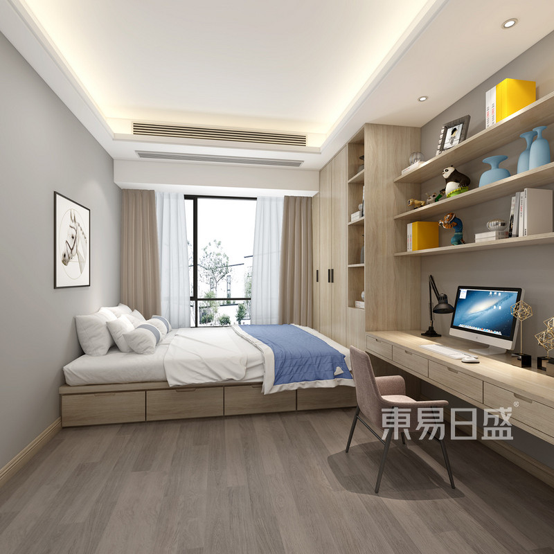 现代风格三室二厅次卧装修