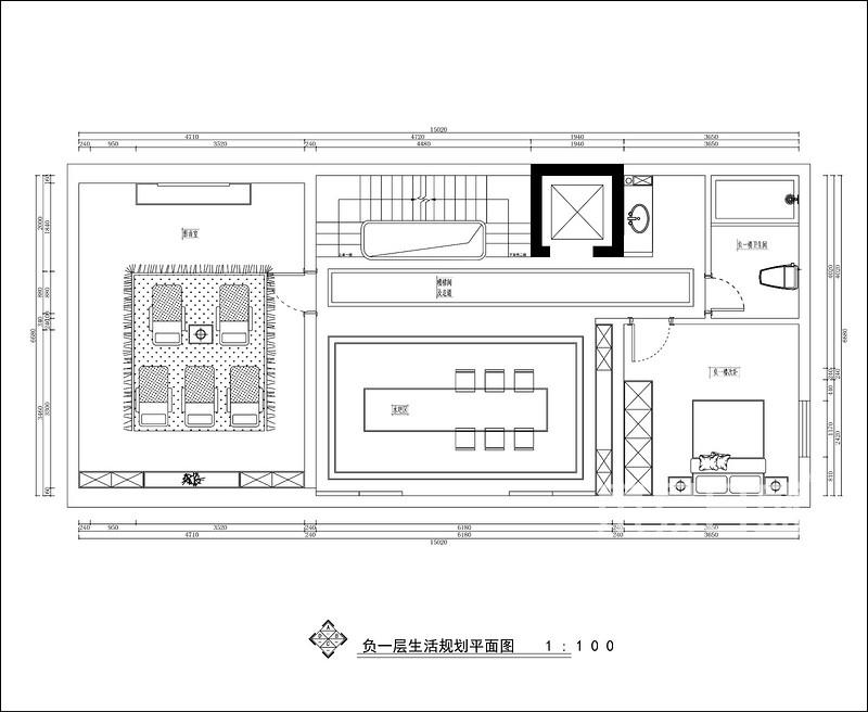 名门紫园—现代新中式风格—545㎡别墅—户型解析